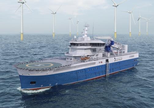 Nueva embarcación con funcionalidad para las operaciones de energía eólica marina